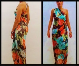 Silk dress - Indian inspiration - No sew