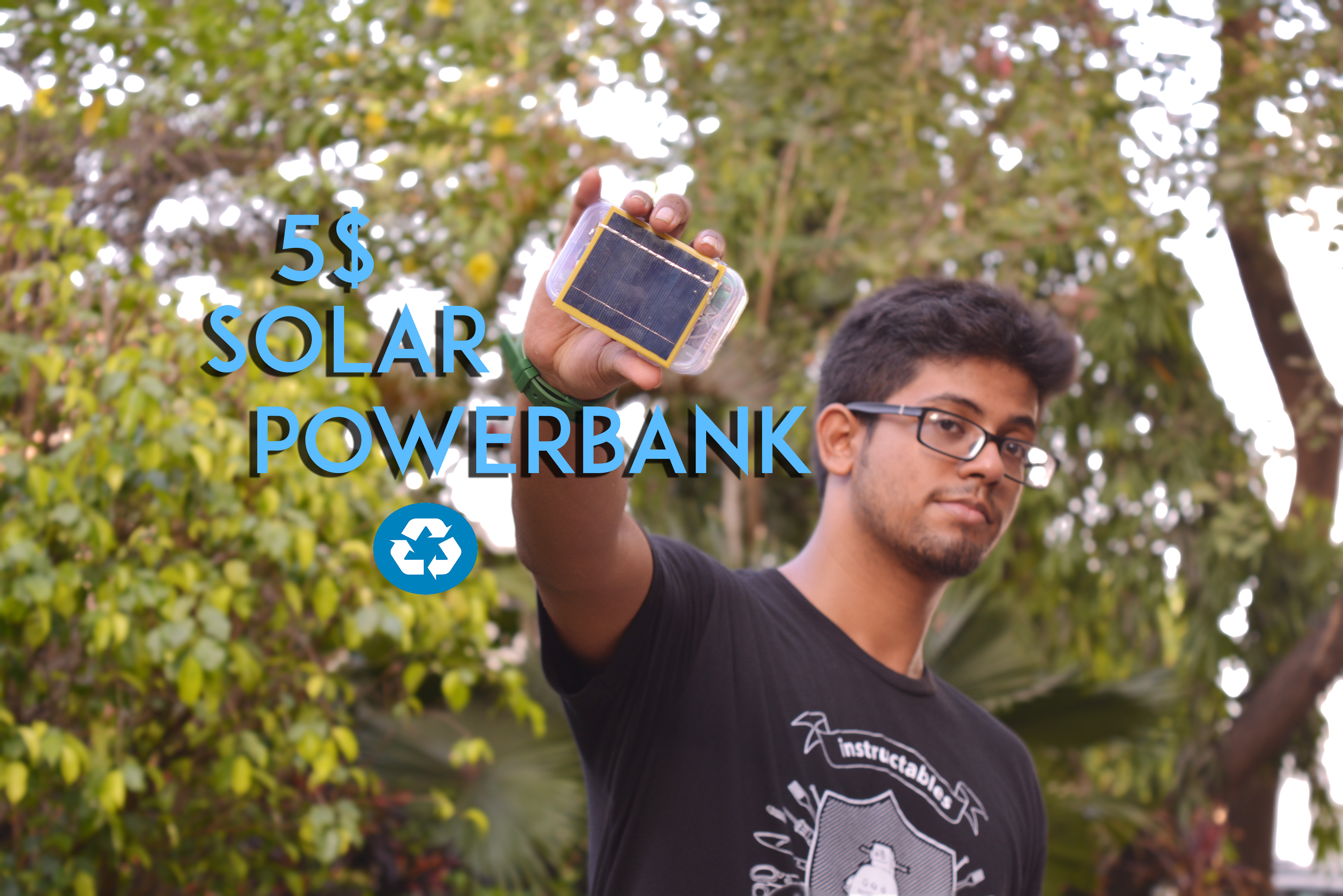 Picture of  5 $ Solar Power Bank From Recycled Laptop Battery