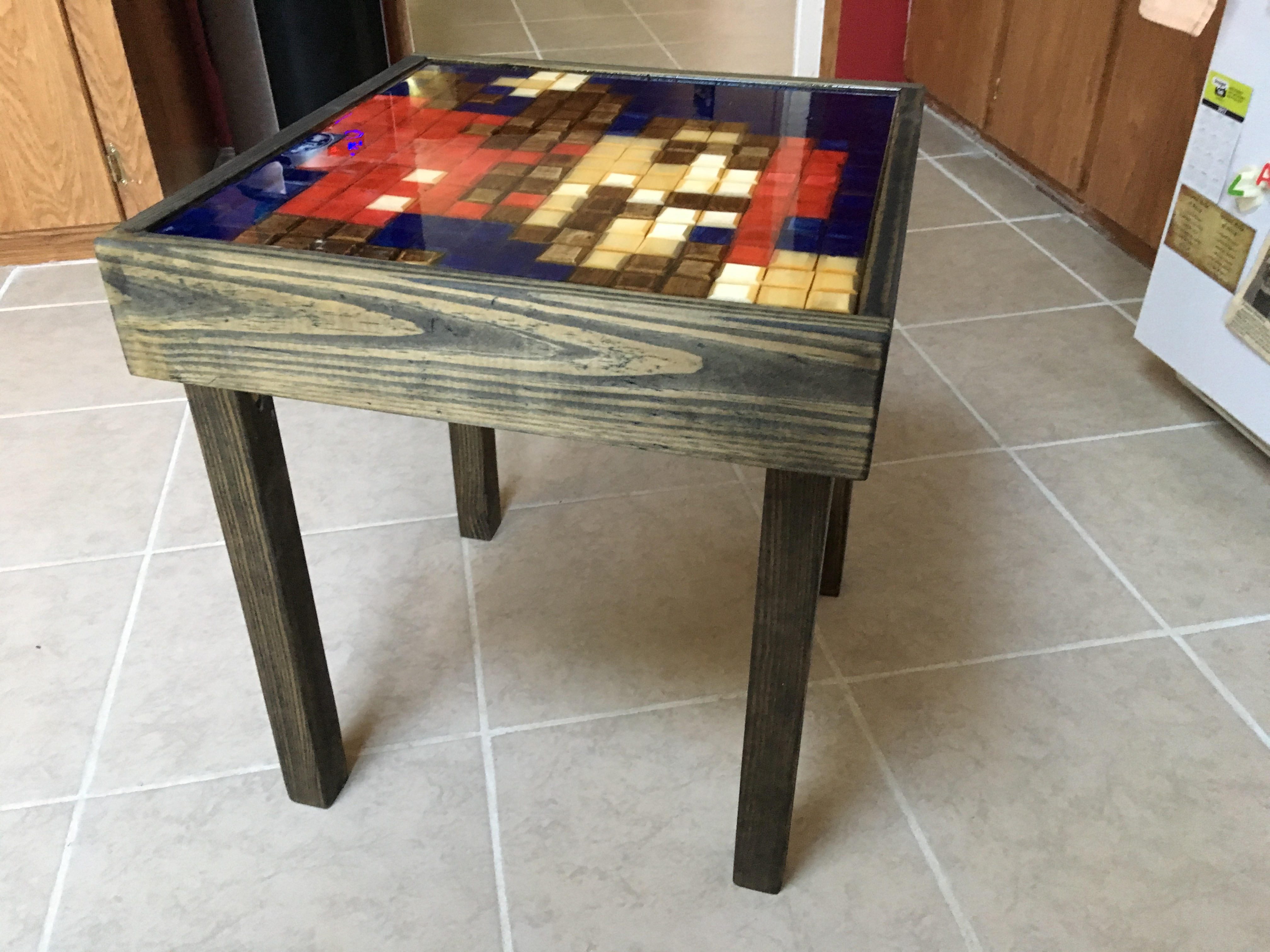 Picture of 8bit Mario End Table