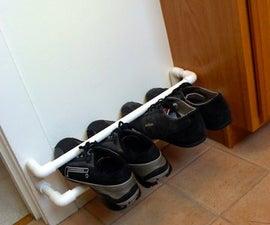 Floating Pipe Shoe Shelf