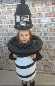 Lighthouse Costume With Rotating Beacon