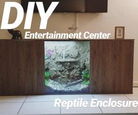 Reptile Enclosure Entertaiment Center!