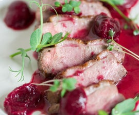 Pan-Seared Duck Breast With Cherry Sauce