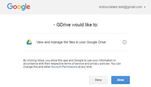 Using GDrive