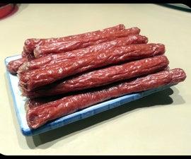 Beef Snack Sticks in a Dehydrator