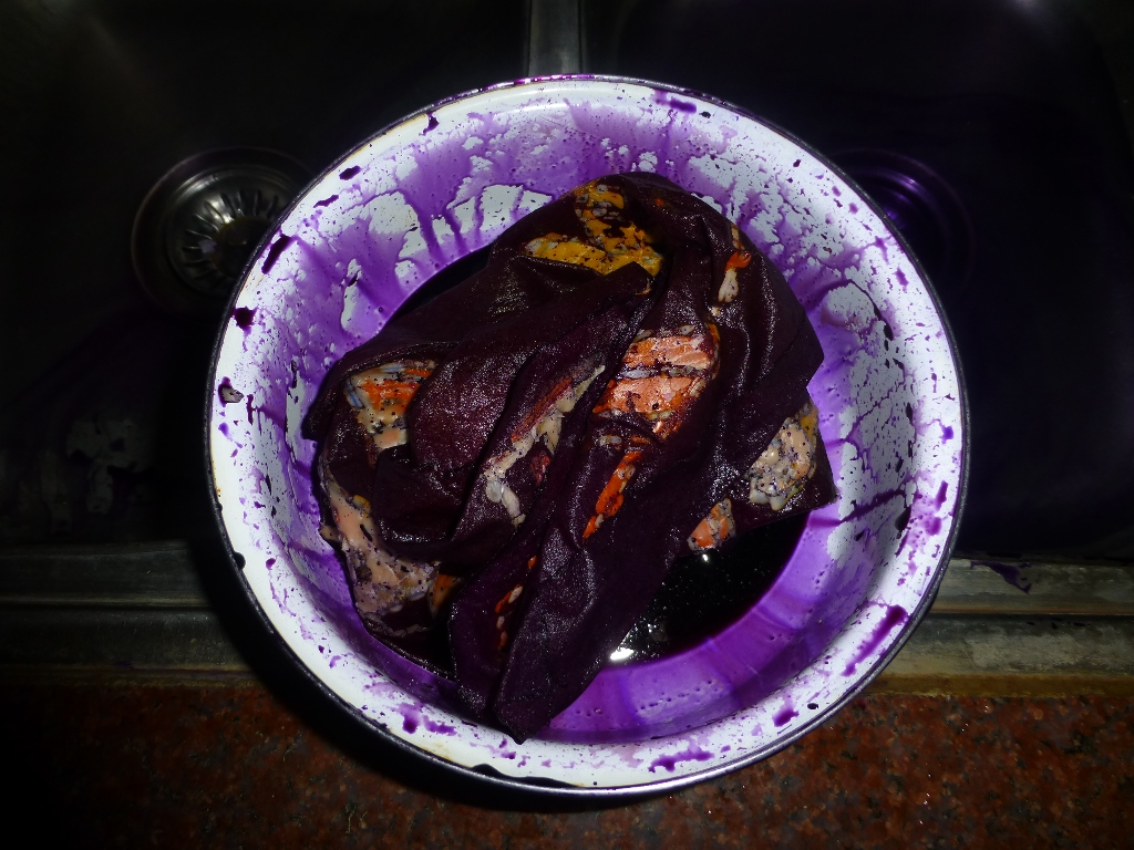 Picture of Final Dyeing in Blue Dye-bath