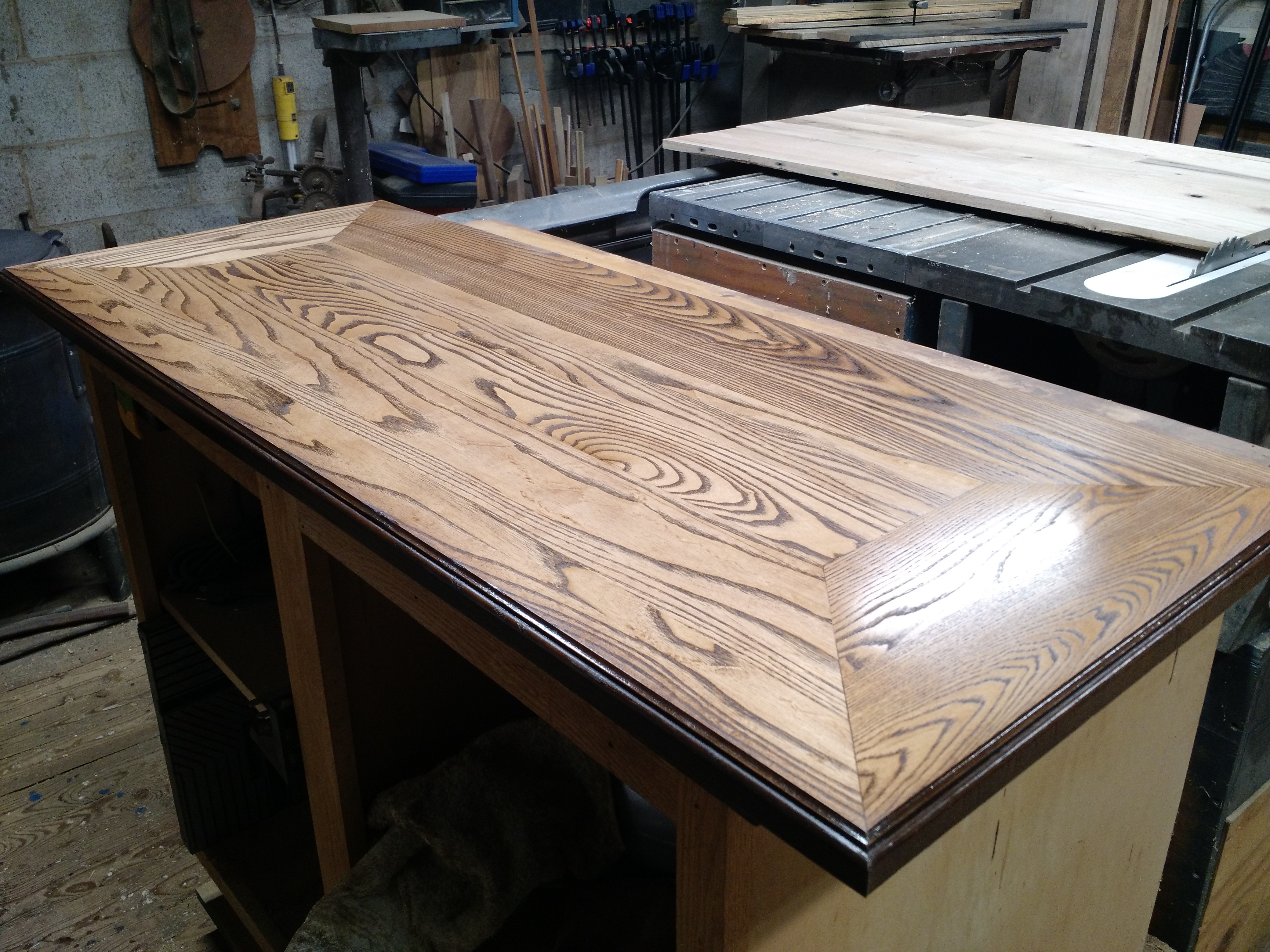 Picture of Desk From Reclaimed Flooring