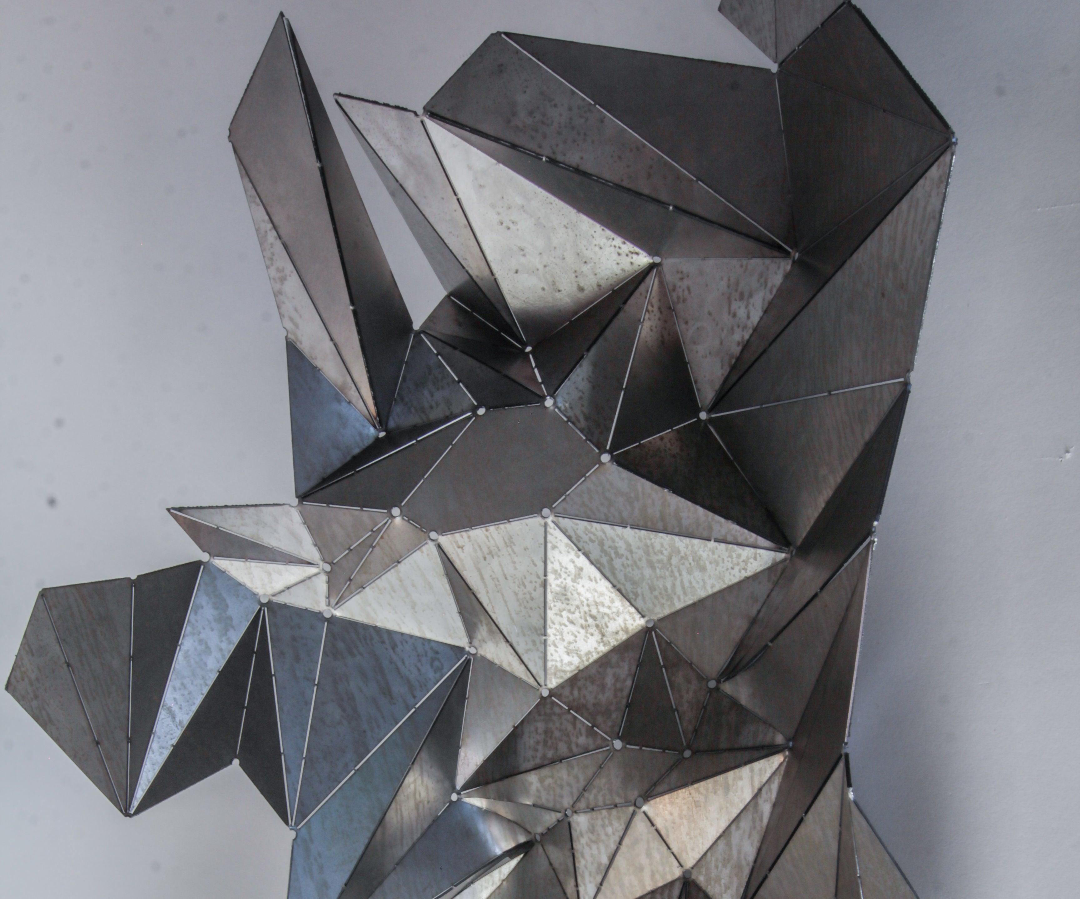 Animalistic Metal Origami : metal origami | 2877x3456