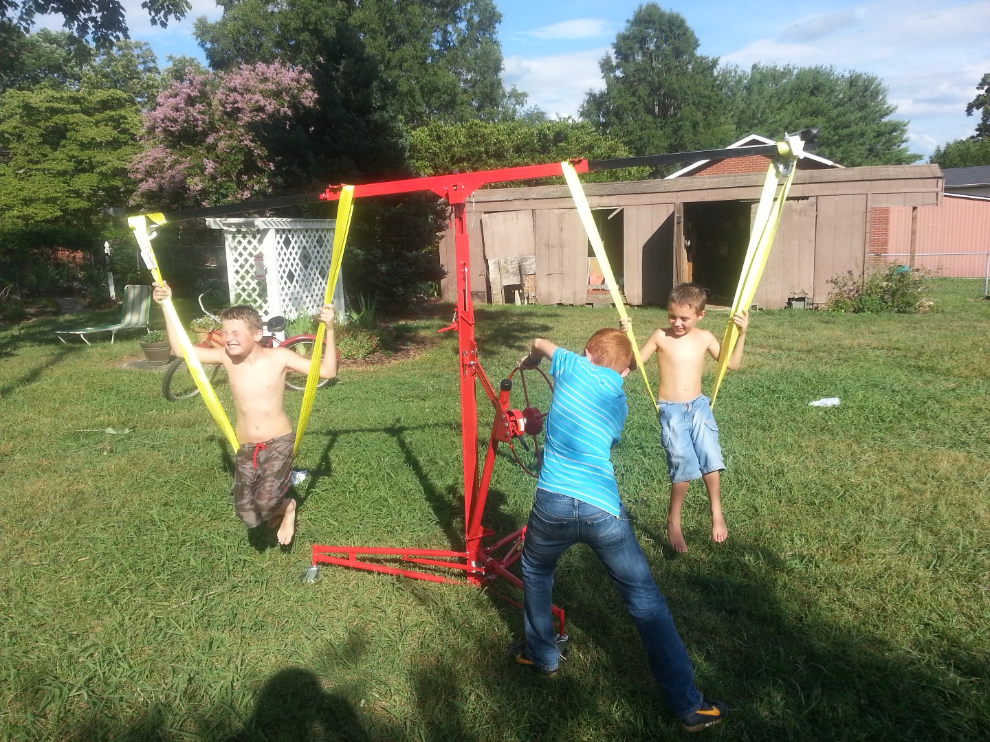 Picture of DIY Children's Carnival Style Swing Ride