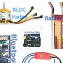 Control the Speed of Brushless DC Motor Using Arduino and Bluetooth Module(HC-05)