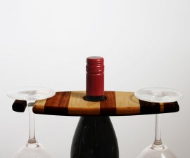 A Fun and Simple Wine Woodworking Christmas Gift