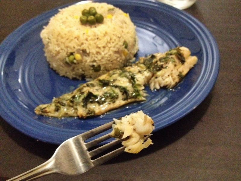 Picture of Lemon Butter Baked Tilapia With Fragrant Butter Rice