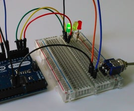Getting started with Arduino - Switched Traffic Light
