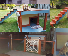 Solar Lighted Roof Deck Doghouse