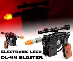 Electronic LEGO DL-44 Blaster (Light & Sound)