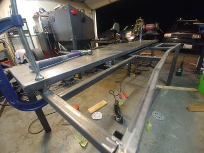 Clamping and Tack Welding the Center Piece