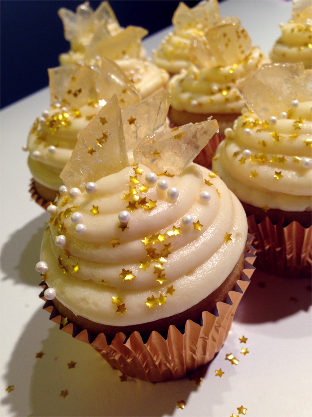 Picture of Champagne Cupcakes With Sparkling Rock Candy