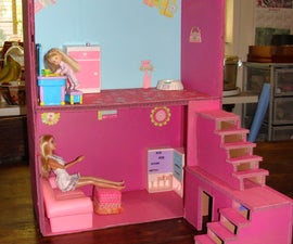 Dollhouse from boxes and cardboard