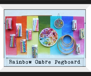 Painted Ombre Pegboard