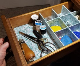 Retrofit Sewing Table Organizer