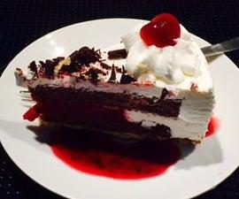 Cherry Tiramisu Ice-cream Cake