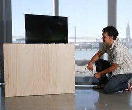Hand Crank TV Lift