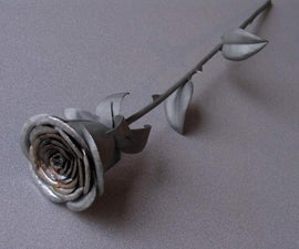 Stainless Steel Rose from Scrap Metal