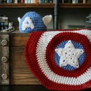 Captain America Baby Beanie & Shield Blanket