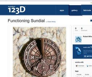 Custom, Functioning Sundial Wristwatch TJT2/6