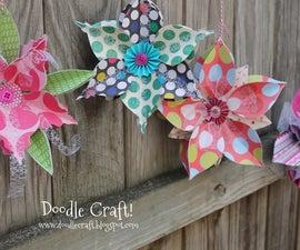 3D Ornament Snowflake Bunting!