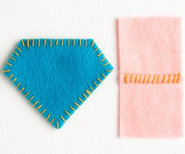 Sewing Whip Stitch Coasters