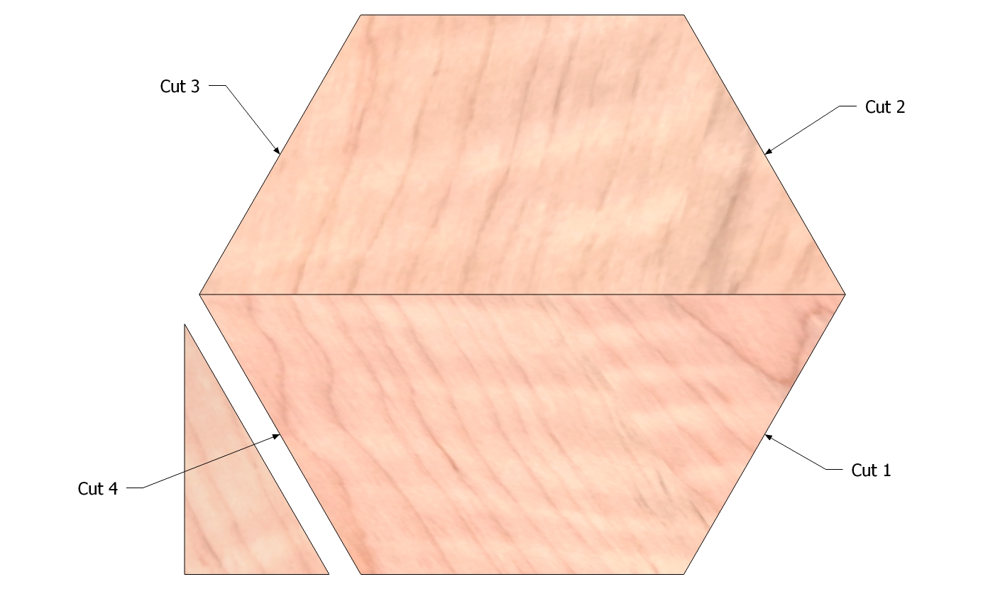 Picture of Cut the Hexagon Shape