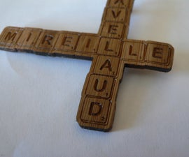 We love letters: Scrabble wooden (bamboo) brooch