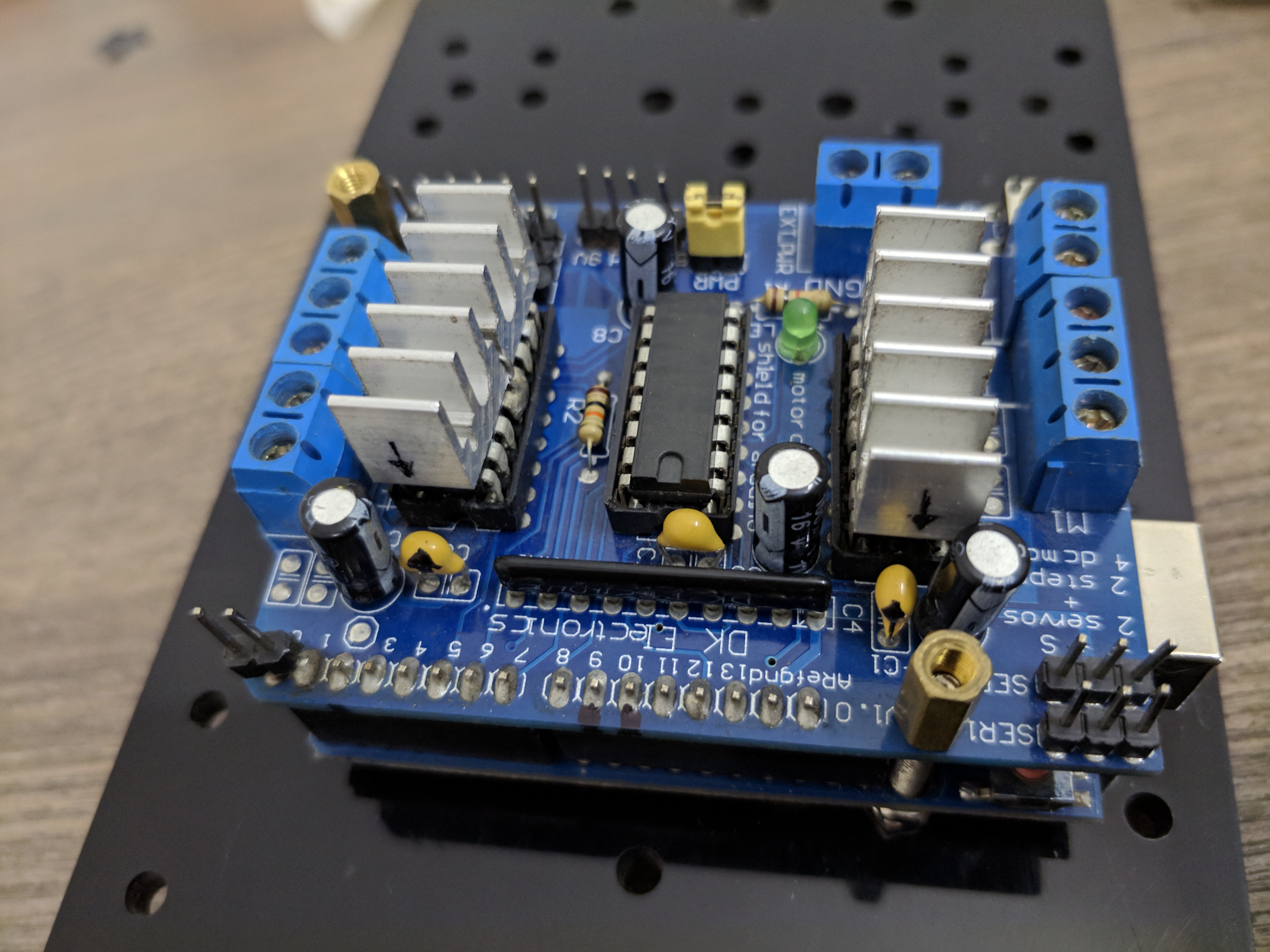Picture of Mounting Micro Controller and Motor Driver to Chassis