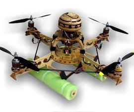 Wooden Remote Control Quadrocopter Build