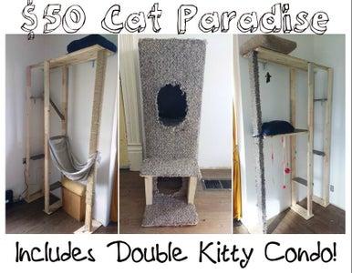 $50 DIY Cat Paradise!
