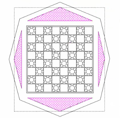 Picture of Creating the Top Diamond Pattern