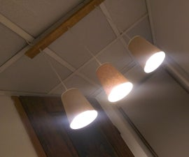 Paper Coffee Cup Led Lampshade
