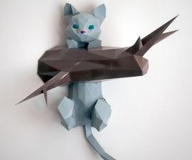 Hanging Kitten Papercraft DIY Project