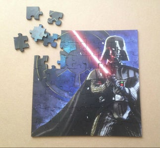 Run the Laser Cutter to Cut the Puzzle