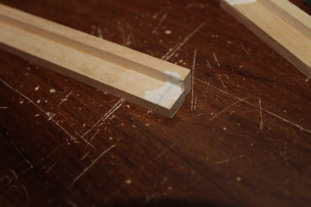 Gluing the Shelves to the Side Supports