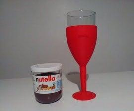 Nutella Chalice Aka... Transform Your Nutella Jar Into a Cool/fancy Glass