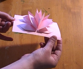 Cool pop up. Just piece of paper . Amazing paper card Flower .