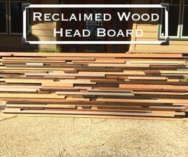 Reclaimed Wood Head Board/Wall Art