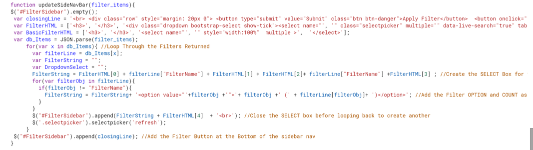 Step 5: the JavaScript Code-Click Actions (JS.html)