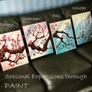 4 Piece Painting - a Walk Through the Seasons