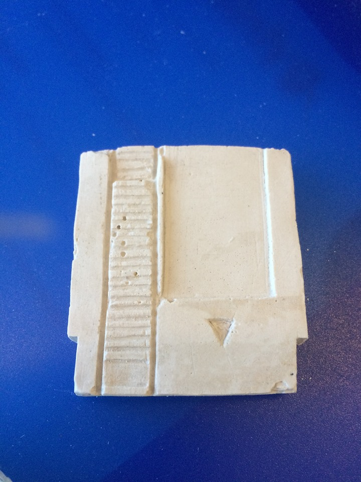 Picture of Casting the Magnets in Plaster.