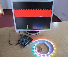 Nexys 4 DDR LED strip Audio Spectrum