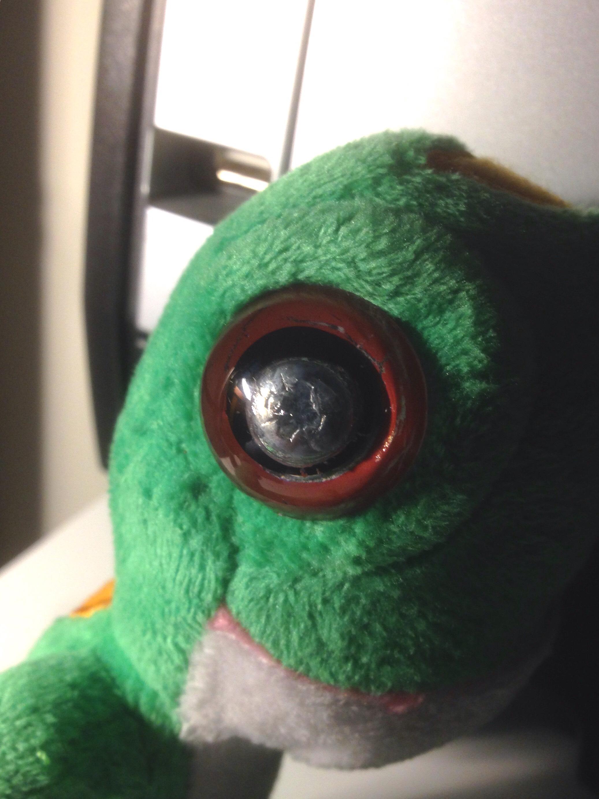 Picture of Cyborg Stuffed Animal Eye Repair