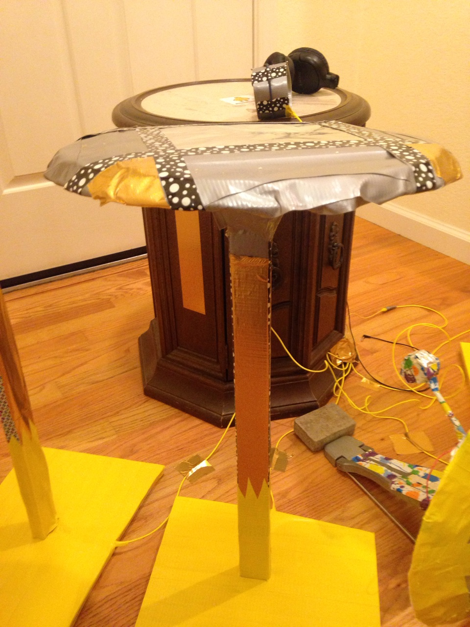 Picture of Build the Drum/Cymbal Stands From Scrap Wood and Duct Tape